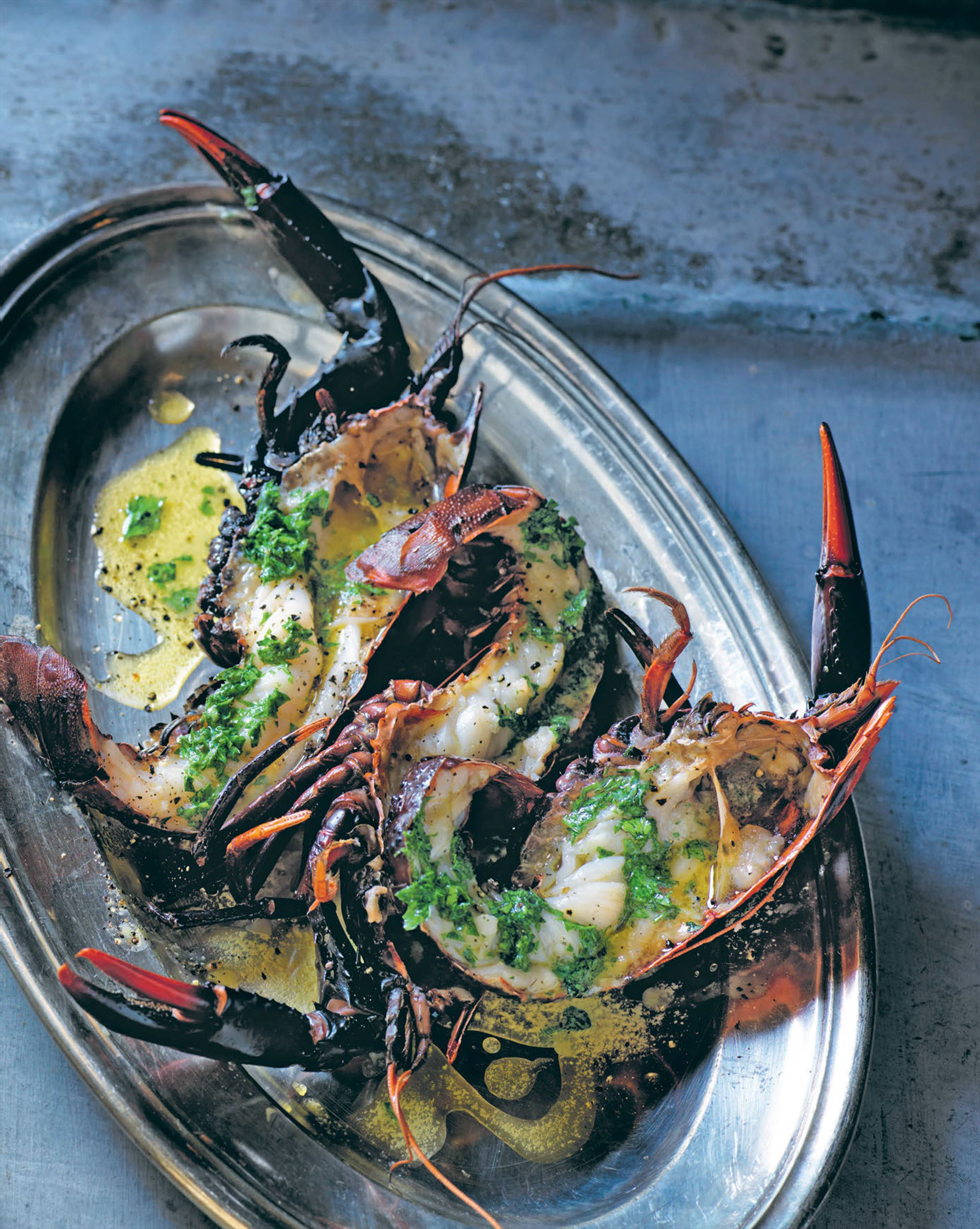 Homard lobster baked in corail butter
