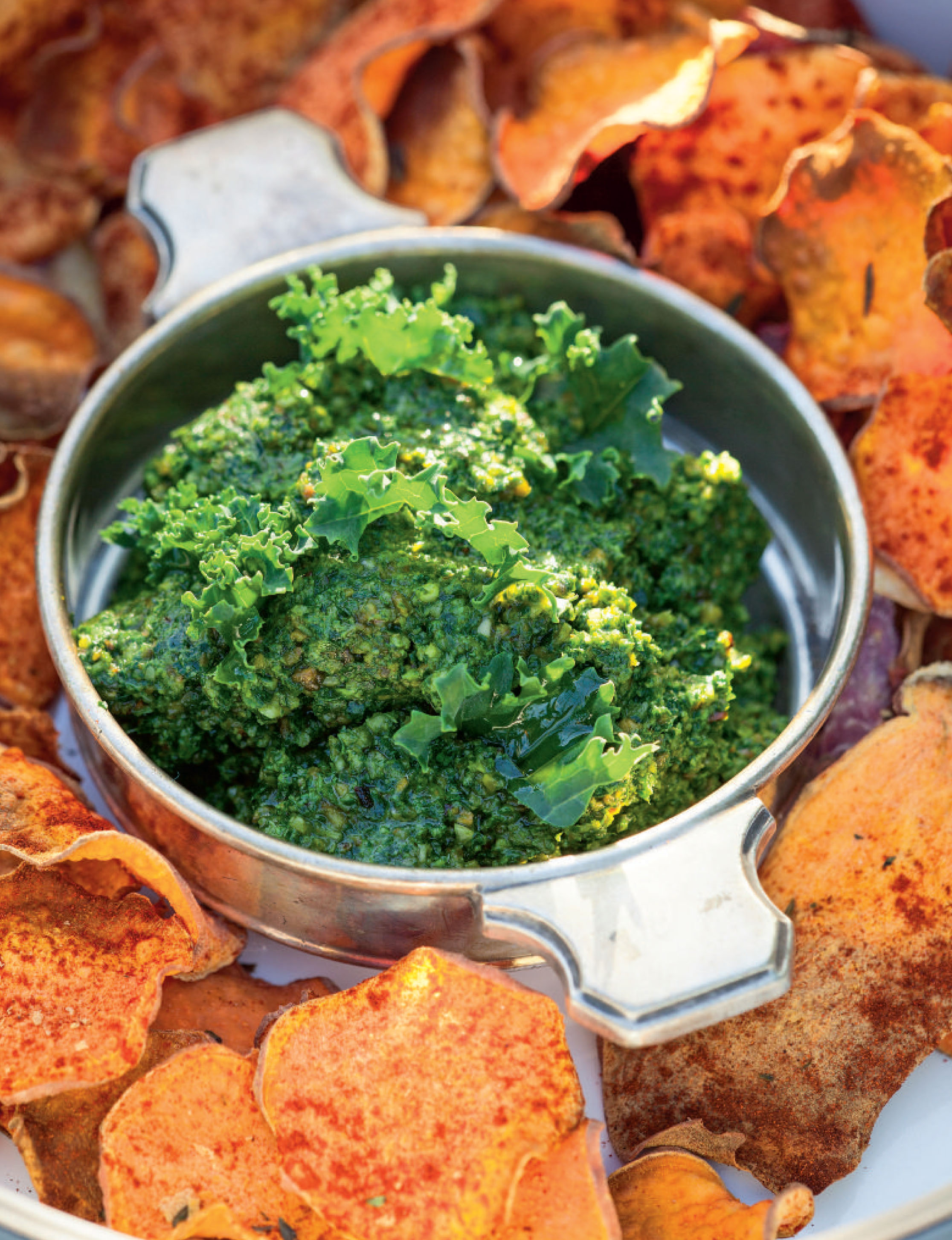 Kale and pumpkin seed pesto