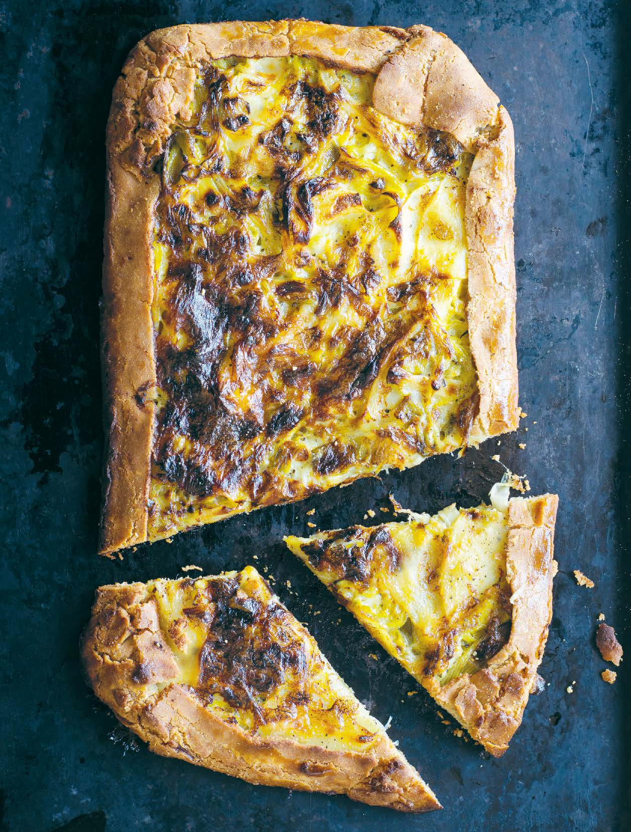 Potato, leek and thyme galette