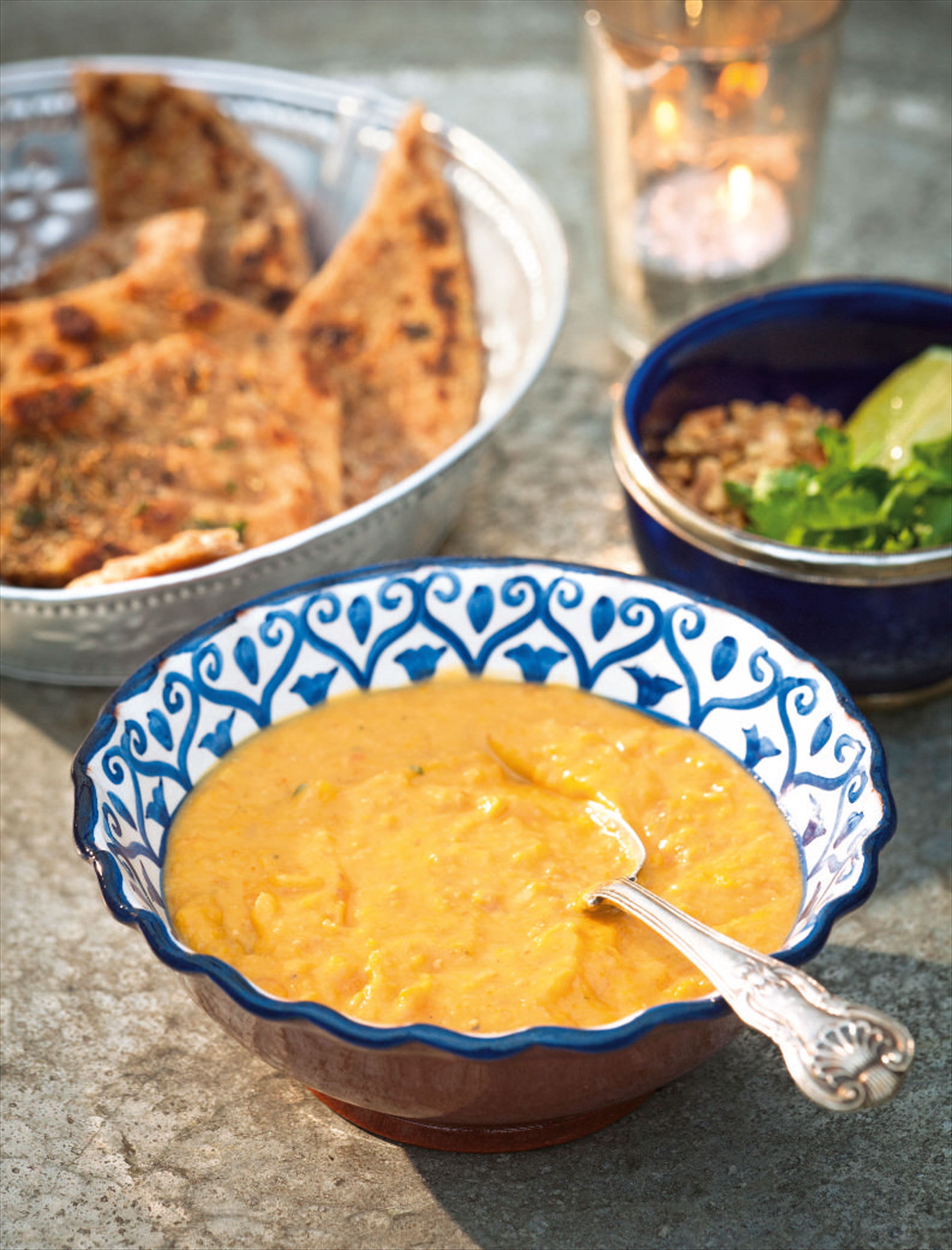 Sweet potato, carrot and peanut butter soup