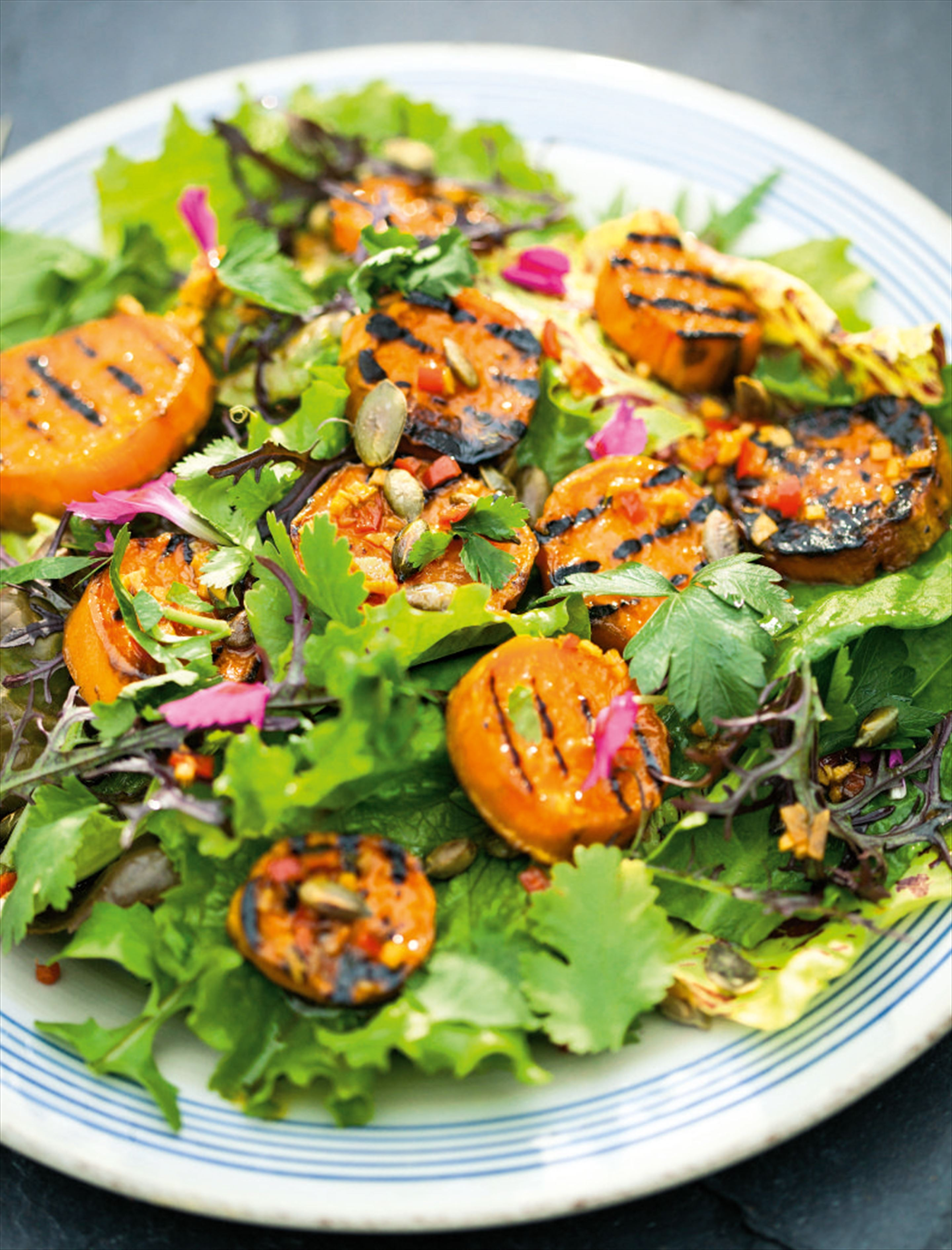 Sweet potato salad with watercress, ginger and soy