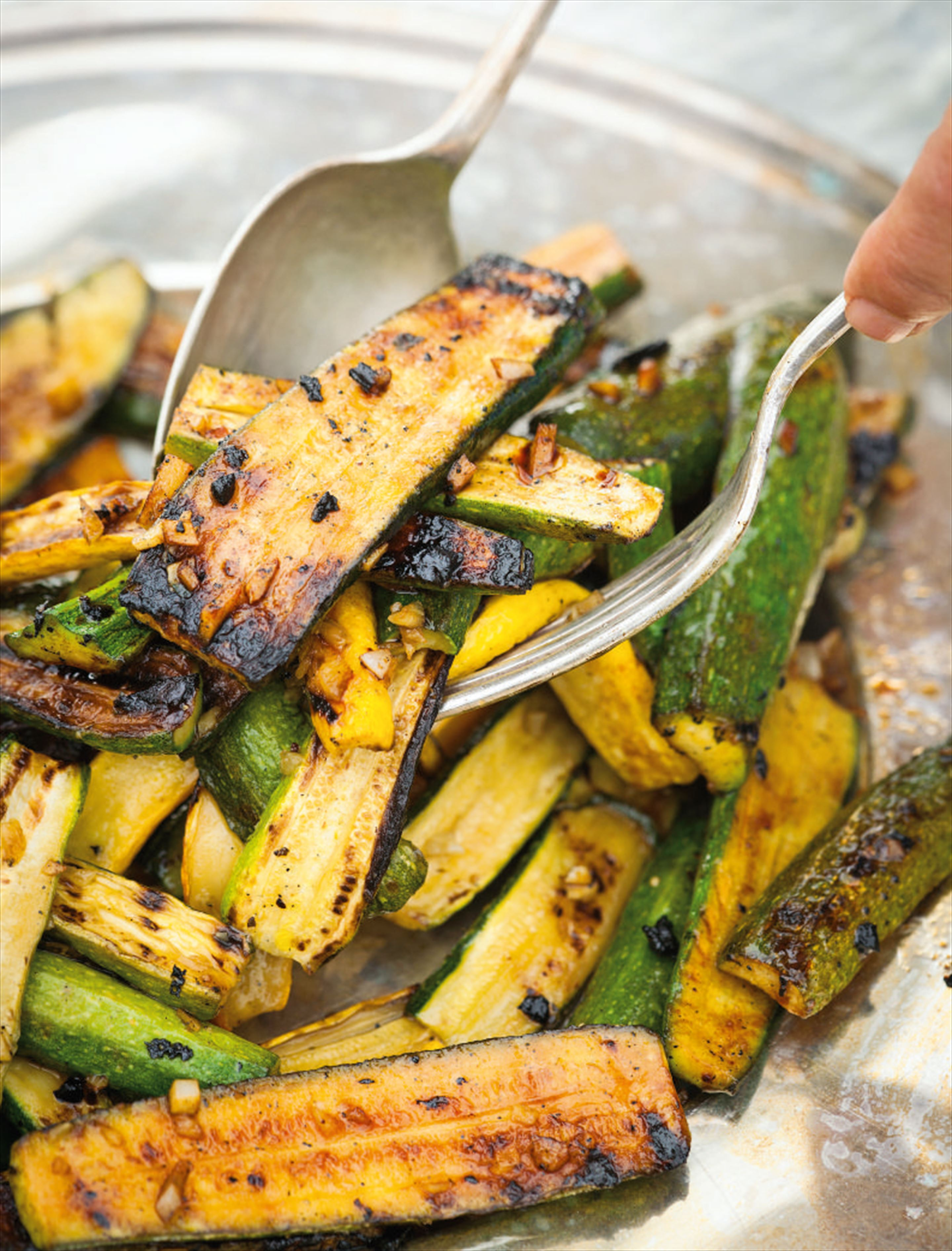 Japanese griddled courgettes