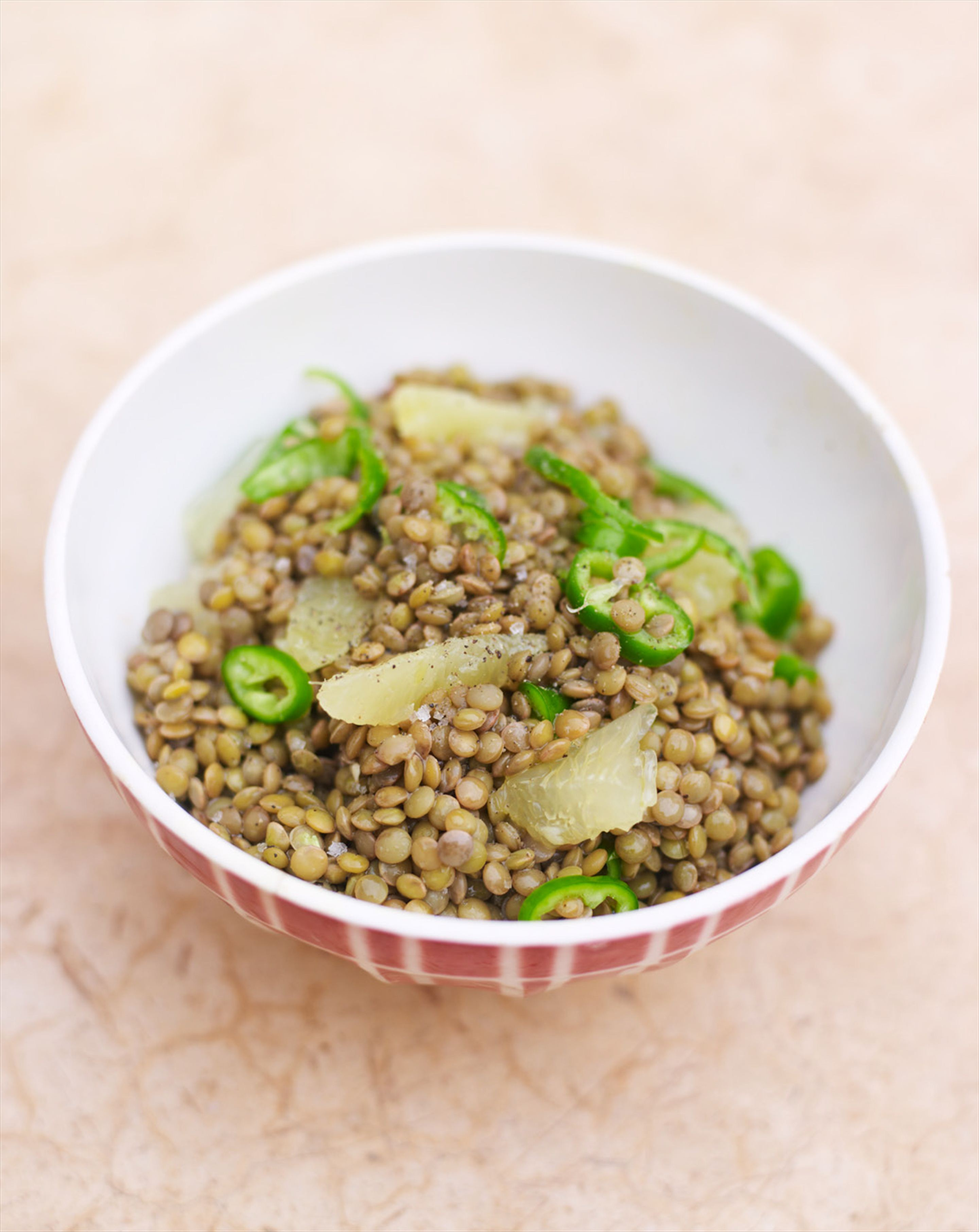 Lentil, lemon & chilli salad