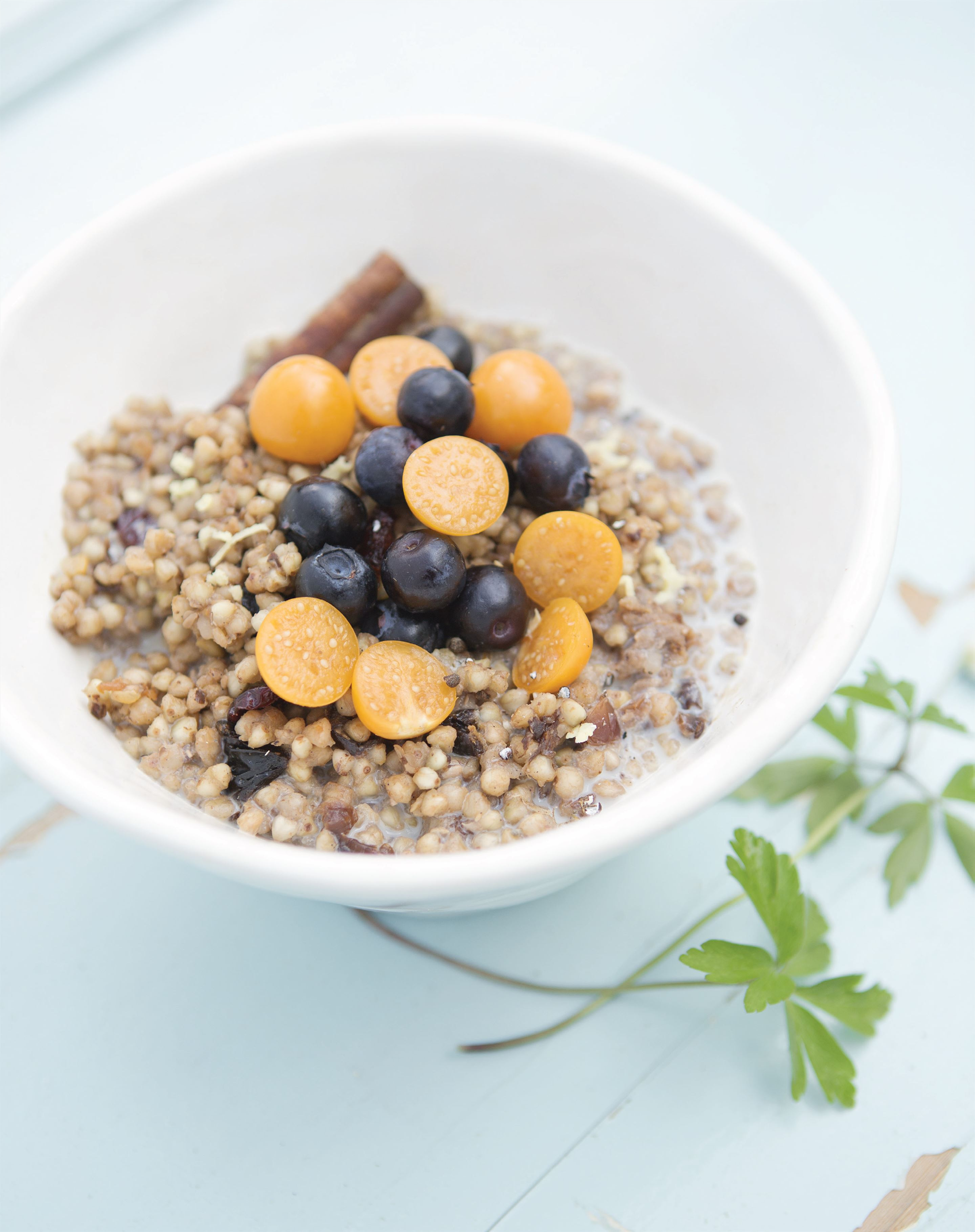 Buckwheat and ginger porridge