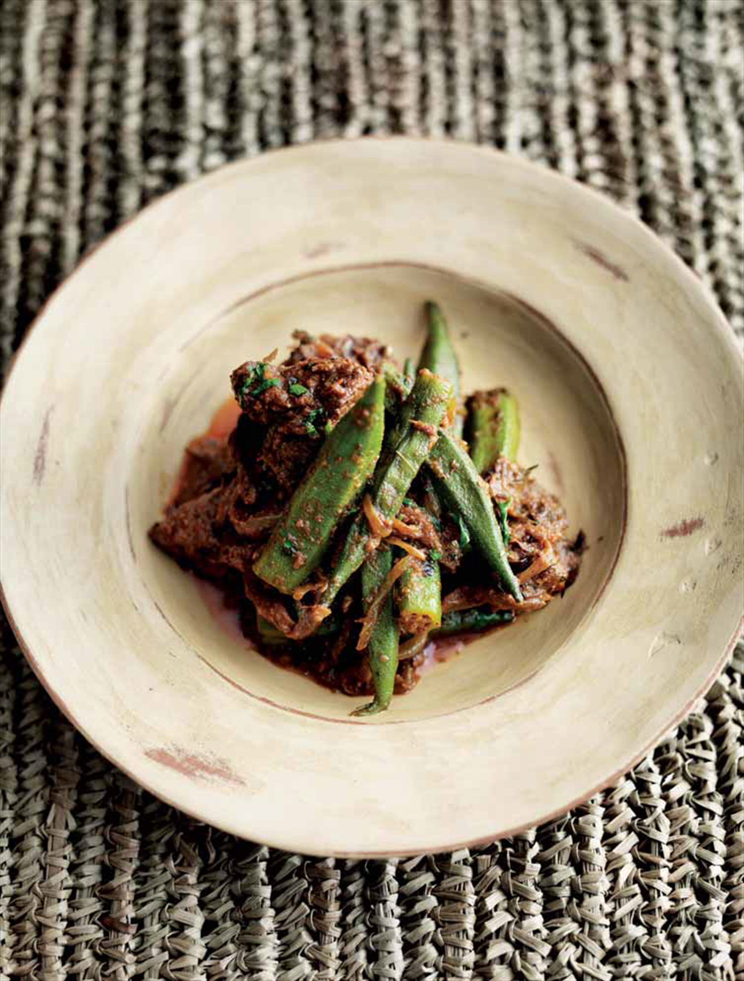 Lamb with okra
