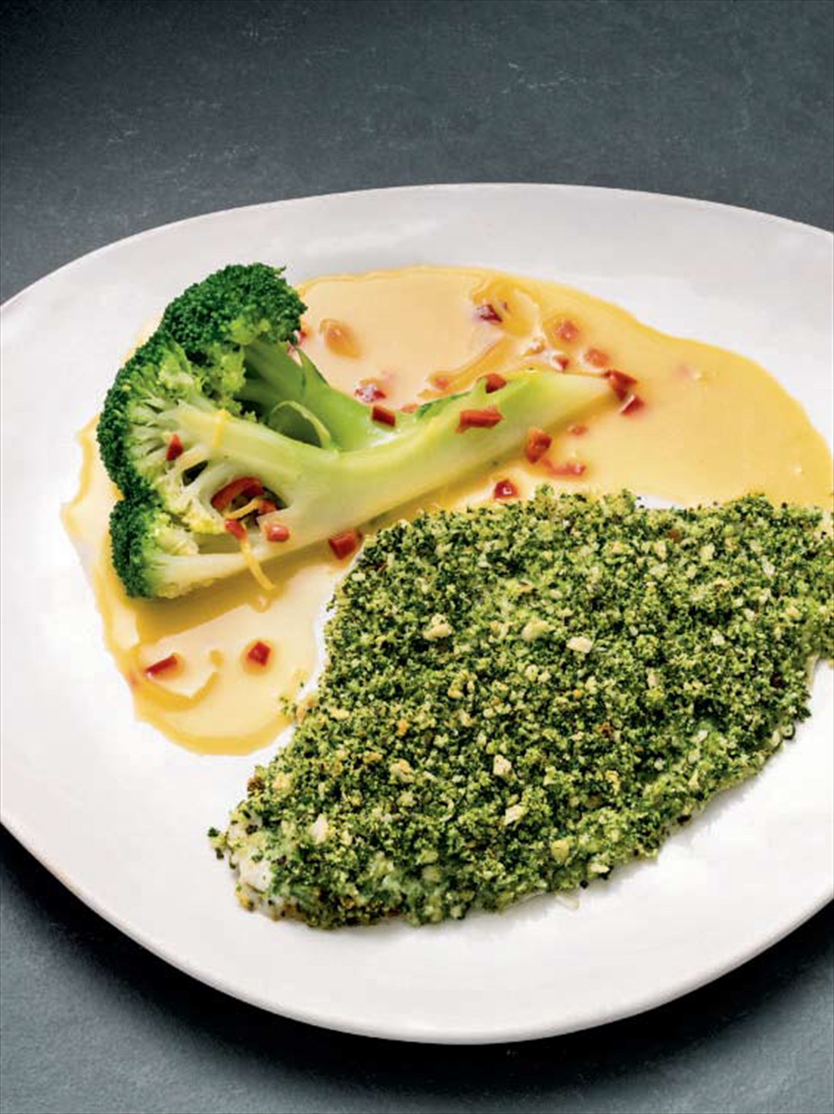 Plaice with Provencal breadcrumb crust, chilli & lemon butter