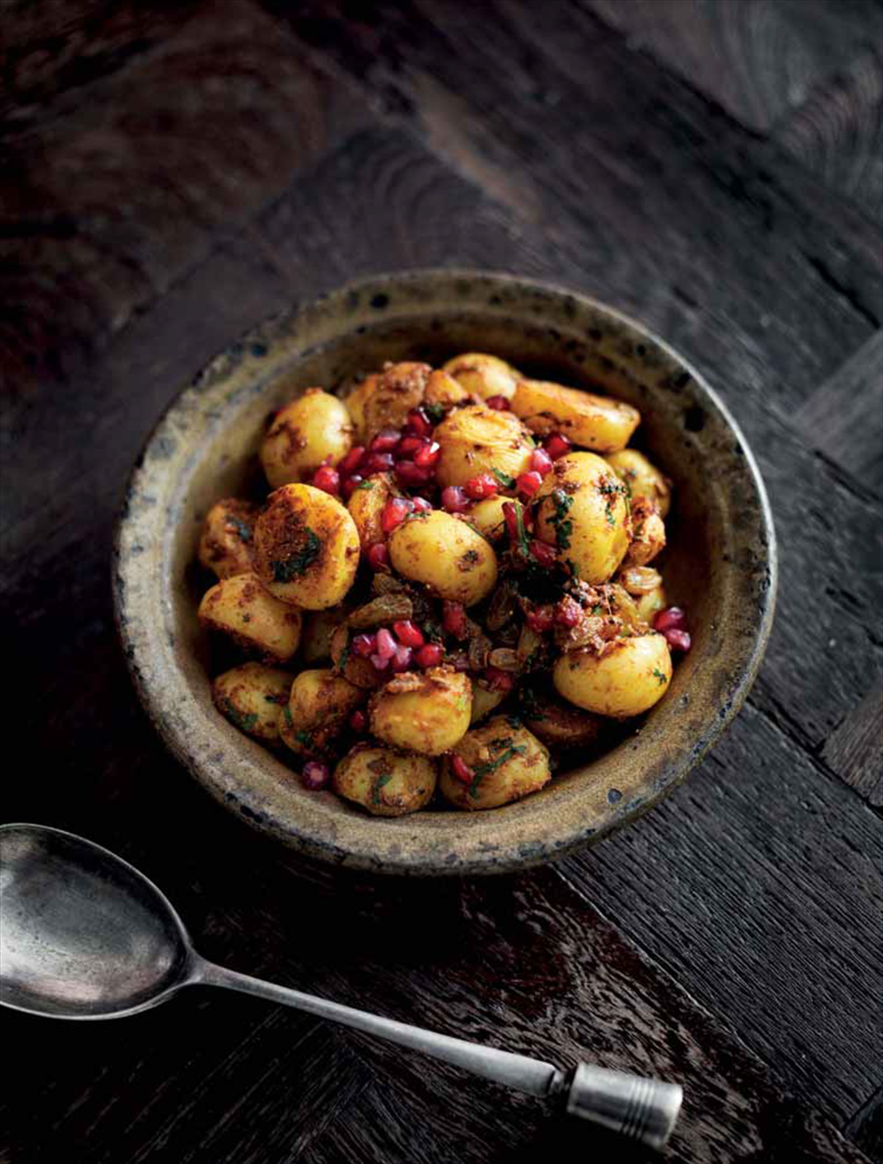 Spiced fruity potatoes