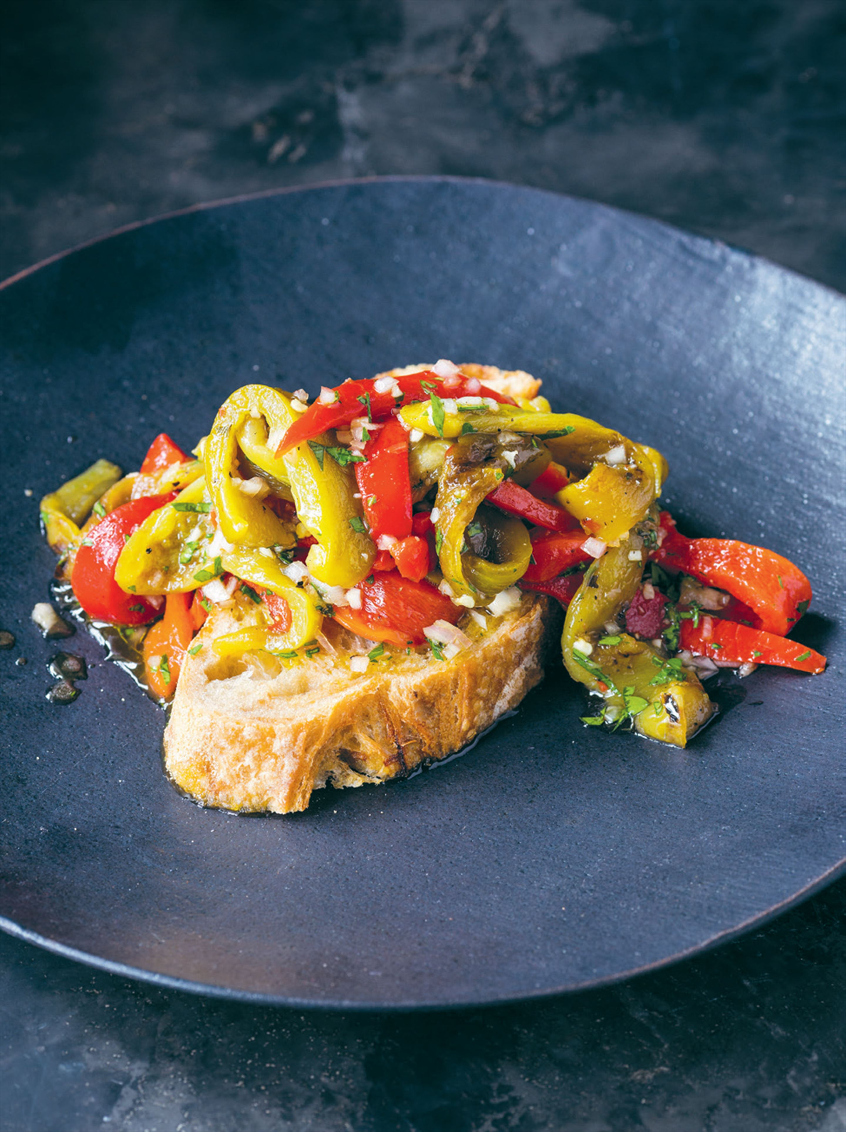 Spanish chargrilled capsicum salad